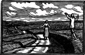 wood-engraving of a May Morning